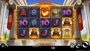 オンラインカジノスロットのプレイ方法「Midas Golden Touch」